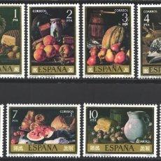 Sellos: ESPAÑA, 1976 EDIFIL Nº 2360 / 2367 /**/, PINTOR, LUIS EUGENIO MENÉNDEZ. Lote 203306047