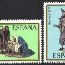 Sellos: ESPAÑA, 1976 EDIFIL Nº 2368 / 2369 /**/, NAVIDAD. Lote 203306088