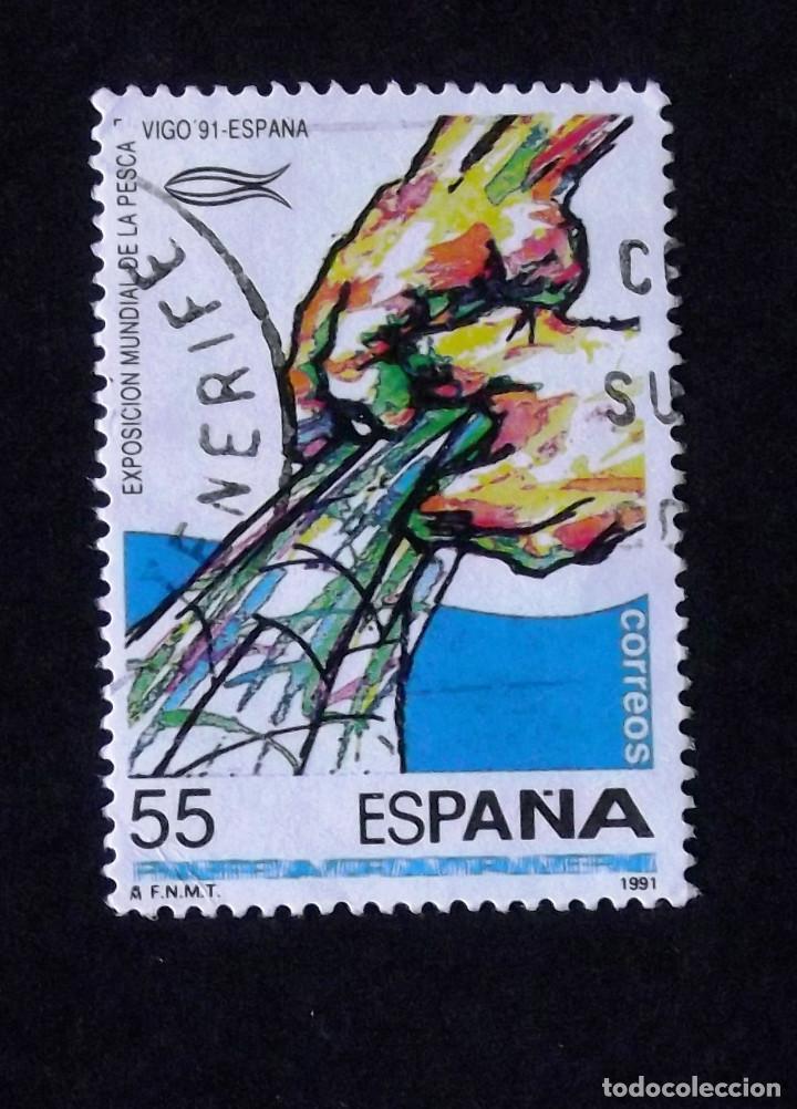 3133. SERIE EN USADO. PESCA. (Sellos - España - Juan Carlos I - Desde 1.986 a 1.999 - Usados)