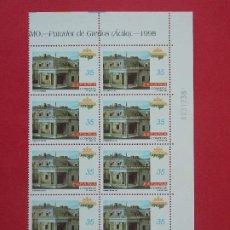 Sellos: ESPAÑA - EDIFIL 3533, PARADORES TURISMO, COMPLETA, 1998, 1 BLOQUE DE 10 SELLOS - NUEVOS ...L959. Lote 203343201
