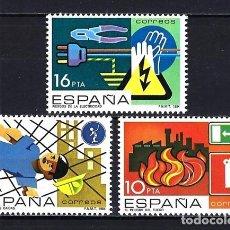 Selos: 1984 ESPAÑA PREVENCIÓN DE ACCIDENTES LABORALES EDIFIL 2732/2734 MNH** NUEVOS SIN FIJASELLOS. Lote 203628476