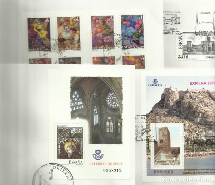 COLECCION DEL AÑO 2.005 EN SOBRES PRIMER DIA (Sellos - España - Juan Carlos I - Desde 2.000 - Usados)