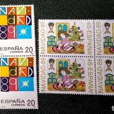 Selos: ESPAÑA. 3036/37 NAVIDAD: ESCENA INFANTIL, EN BLOQUE DE CUATRO. 1989. SELLOS NUEVOS Y NUMERACIÓN EDIF. Lote 204003992
