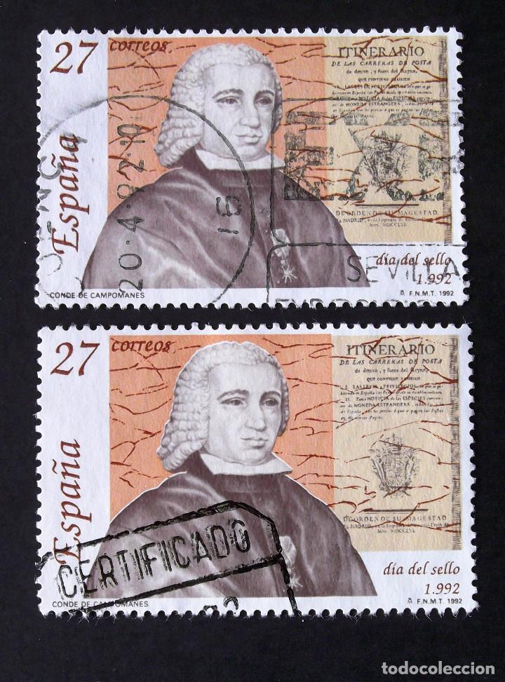3154, DOS SERIES EN USADO. SELLO. (Sellos - España - Juan Carlos I - Desde 1.986 a 1.999 - Usados)