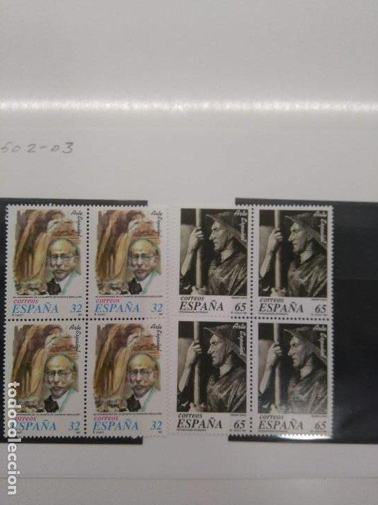 AÑO1997 EDIFIL 3502-03** SIN CHARNELA BLOQUE CUATRO BENLLIURE Y ORTIZ ECHAGUE CON FILOESTUCHE HEFAR (Sellos - España - Juan Carlos I - Desde 1.986 a 1.999 - Nuevos)