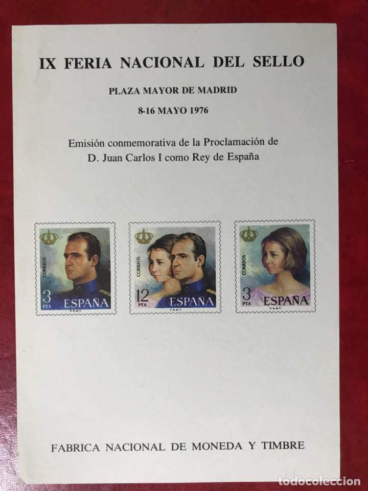 ESPAÑA 1976 IX FERIA NACIONAL DEL SELLO (Sellos - España - Juan Carlos I - Desde 1.975 a 1.985 - Nuevos)