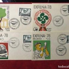 Sellos: ESPAÑA 1978 EXFILNA 78 4 SOBRES. Lote 204366143