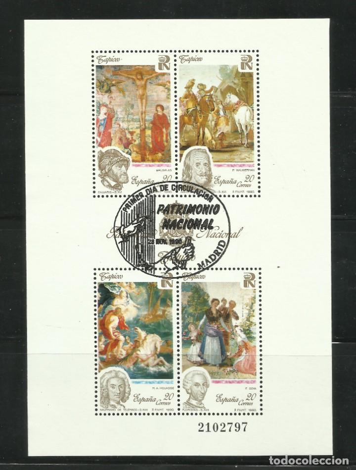 HOJA DE PATRIMONIO ARTISTICO NACIONAL DE 1.990 USADA (Sellos - España - Juan Carlos I - Desde 1.986 a 1.999 - Usados)