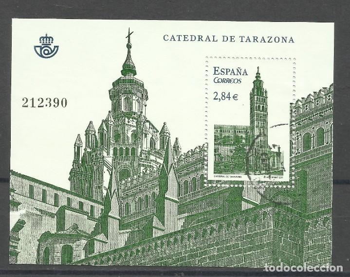 HOJA DE LA CATEDRAL DE TARAZONA DE 2.011 USADA (Sellos - España - Juan Carlos I - Desde 1.986 a 1.999 - Usados)