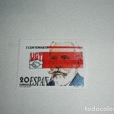 Sellos: ESPAÑA - 1988 - I CENTENARIO DE LA U.G.T. NUEVO. Lote 204506751