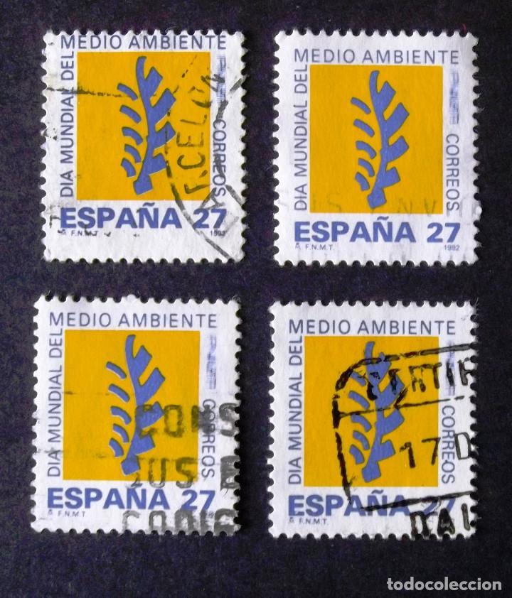 3210, CUATRO SERIES EN USADO. AMBIENTE. (Sellos - España - Juan Carlos I - Desde 1.986 a 1.999 - Usados)