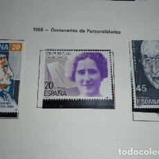 Sellos: ESPAÑA EDIFIL 2929 AÑO 1988. CENTENARIOS DE PERSONALIDADES. Lote 204530897