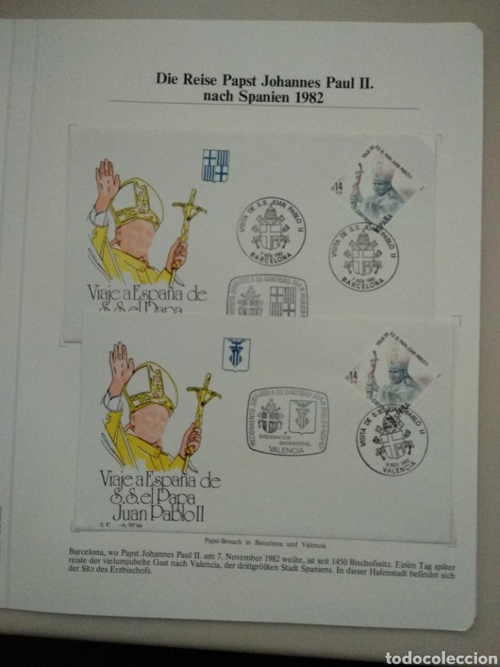 VIAJE A ESPAÑA DE S.S EL PAPA JUAN PABLO II (DIÓCESIS DE BARCELONA Y VALENCIA) (Sellos - España - Juan Carlos I - Desde 1.975 a 1.985 - Cartas)