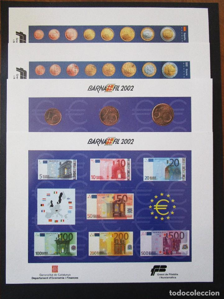 ESPAÑA 2002, 4 COMPLETA HB BARNAFIL / EURO (MNH)** (Sellos - España - Juan Carlos I - Desde 2.000 - Nuevos)
