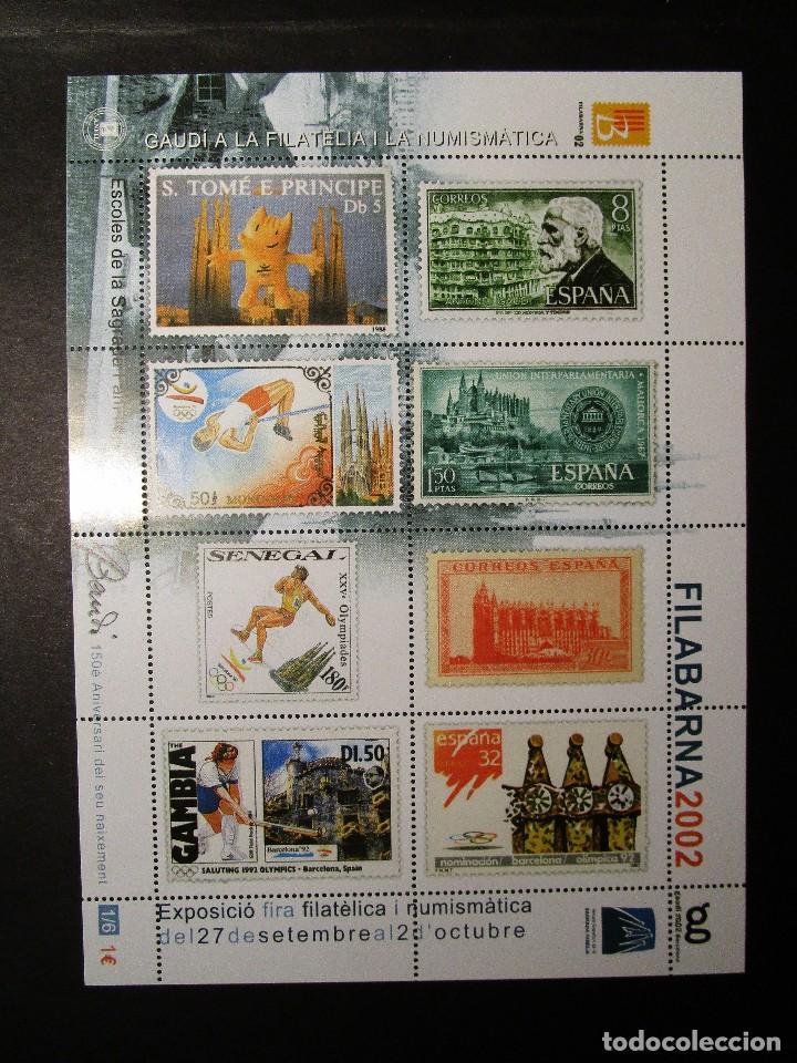 ESPAÑA 2002, LOTE DE 4 Nº 1-2-3-6 HB FILABARNA EXP GAUDI (MNH)** (Sellos - España - Juan Carlos I - Desde 2.000 - Nuevos)