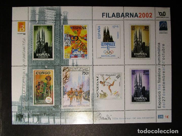 Sellos: España 2002, LOTE DE 4 Nº 1-2-3-6 HB FILABARNA EXP GAUDI (MNH)** - Foto 2 - 204596740