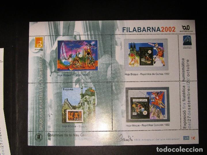 Sellos: España 2002, LOTE DE 4 Nº 1-2-3-6 HB FILABARNA EXP GAUDI (MNH)** - Foto 3 - 204596740