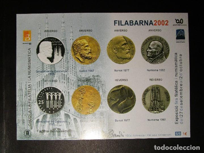 Sellos: España 2002, LOTE DE 4 Nº 1-2-3-6 HB FILABARNA EXP GAUDI (MNH)** - Foto 4 - 204596740