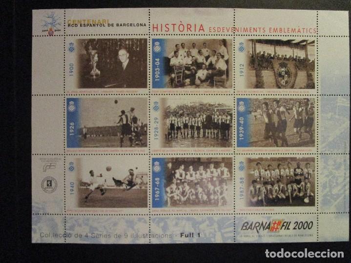 ESPAÑA BARNAFI 2002 Y 2000 CONCURS Y RCD ESPAYOL DE BARCELONA (Sellos - España - Juan Carlos I - Desde 2.000 - Nuevos)