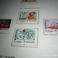 Sellos: EDIFIL 2994/7 1989 BARCELONA 92. II SERIE PRE-OLIMPICA. SELLOS NUEVOS. Lote 204626802