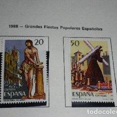Sellos: ESPAÑA EDIFIL 2933 AÑO 1988-GRANDES FIESTAS POPULARES ESPAÑOLAS NUEVOS. Lote 204626812
