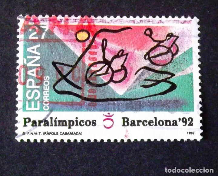 3192, SERIE EN USADO. PARALÍMPICOS. (Sellos - España - Juan Carlos I - Desde 1.986 a 1.999 - Usados)