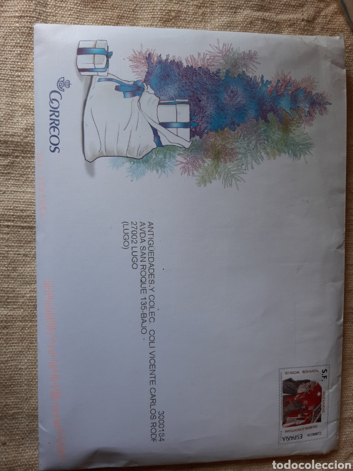 SOBRE FILATELIA CORREOS SF NAVIDAD ESPAÑA CORREO (Sellos - España - Juan Carlos I - Desde 2.000 - Cartas)