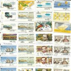 Sellos: 110 ATMS MATASELLADAS EN PTS, ESTAMPILLAS DE ESPAÑA. Lote 204720516