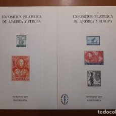 Sellos: SELLOS ESPAÑA EXPOSICION FILATELICA AMERICA Y EUROPA1977. Lote 205115127