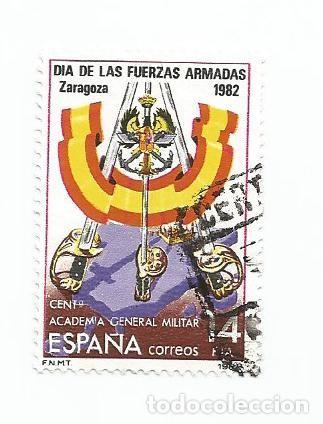 SELLO USADO DE 1982- SERIE DIA DE LAS FUERZAS ARMADAS- ACADEMIA GENERAL MILITAR- EDIFIL 2659 (Sellos - España - Juan Carlos I - Desde 1.975 a 1.985 - Usados)