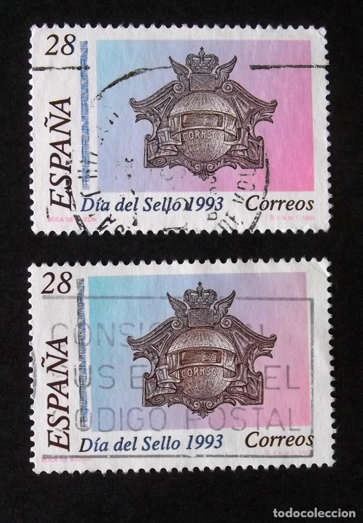 3243, DOS SERIE EN USADO. SELLO. (Sellos - España - Juan Carlos I - Desde 1.986 a 1.999 - Usados)