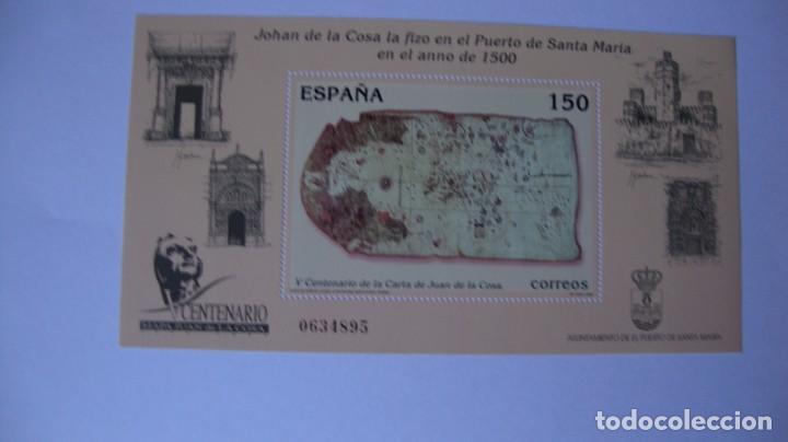 ESPAÑA 2000 EDIFIL H-3722 CARTA JUAN DE LA COSA NUEVO PERFECTO (Sellos - España - Juan Carlos I - Desde 2.000 - Nuevos)