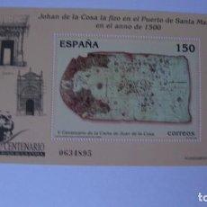 Sellos: ESPAÑA 2000 EDIFIL H-3722 CARTA JUAN DE LA COSA NUEVO PERFECTO. Lote 205289272
