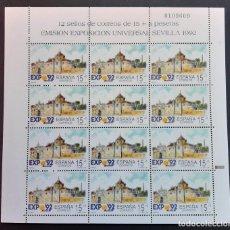 Sellos: SELLOS ESPAÑA 1991 - EXPO 92 SEVILLA - MINIPLIEGO HB 24 NUEVO - EDIFIL 3100. Lote 205587412