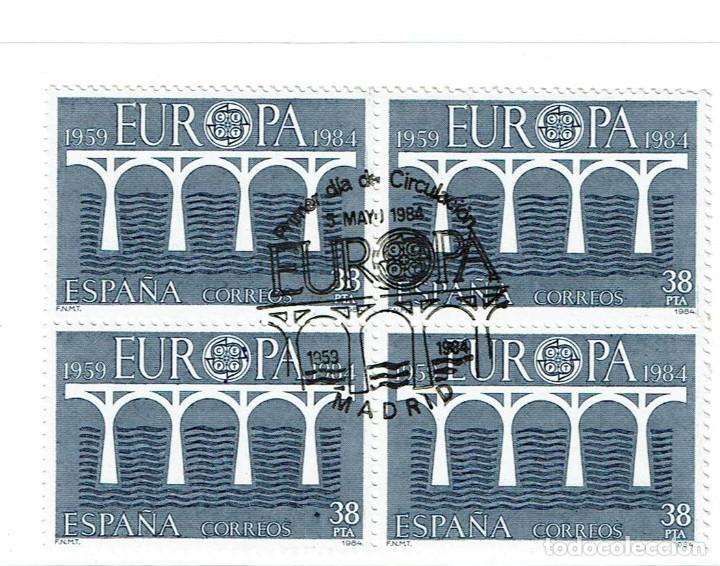 1984 ED 2756-2757 BLOQUE DE 4, NUEVO PERO CON MATASELLO PRIMER DIA DE CIRCULACIÓN (Sellos - España - Juan Carlos I - Desde 1.975 a 1.985 - Usados)