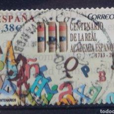 Sellos: ESPAÑA CENTENARIO ACADEMIA DE LA LENGUA SELLO USADO. Lote 205666118