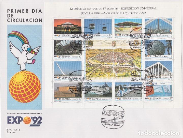 1992. EXPOSICIÓN MUNDIAL DE SEVILLA SPD EDIFIL Nº MP42A/MP42B (Sellos - España - Juan Carlos I - Desde 2.000 - Usados)