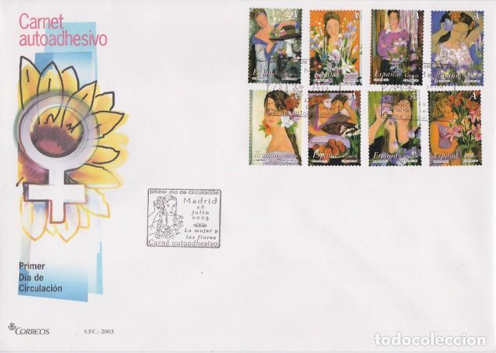 2003. LA MUJER Y LAS FLORES SPD EDIFIL Nº 4003/4010 (Sellos - España - Juan Carlos I - Desde 2.000 - Usados)