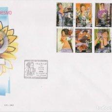 Sellos: 2003. LA MUJER Y LAS FLORES SPD EDIFIL Nº 4003/4010. Lote 205735493