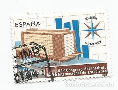 SELLO USADO DE 1983- SERIE 44 CONGRESO INSTITUTO INTERNACIONAL DE ESTADISTICA- EDIFIL 2718 (Sellos - España - Juan Carlos I - Desde 1.975 a 1.985 - Usados)