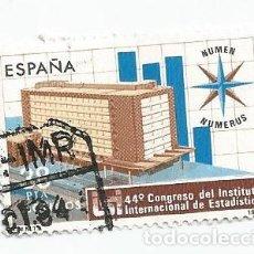 Sellos: SELLO USADO DE 1983- SERIE 44 CONGRESO INSTITUTO INTERNACIONAL DE ESTADISTICA- EDIFIL 2718. Lote 205833103