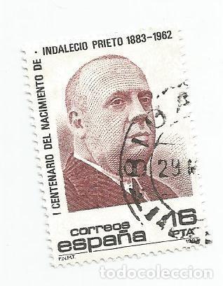 SELLO USADO DE 1983- SERIE CENTENARIO DEL NACIMIENTO DE INDALECIO PRIETO- EDIFIL 2731 (Sellos - España - Juan Carlos I - Desde 1.975 a 1.985 - Usados)