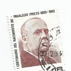 Sellos: SELLO USADO DE 1983- SERIE CENTENARIO DEL NACIMIENTO DE INDALECIO PRIETO- EDIFIL 2731. Lote 205833747