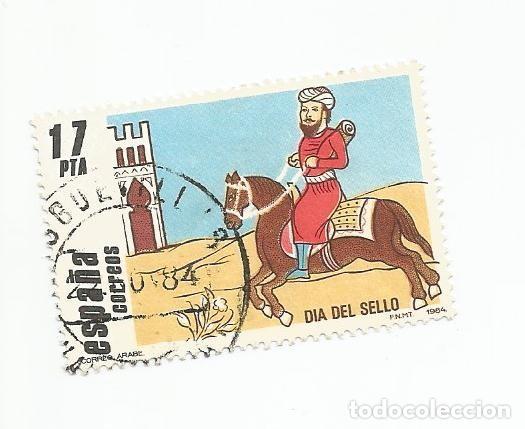 SELLO USADO DE 1984- SERIE DIA DEL SELLO- CORREO ARABE- EDIFIL 2774 (Sellos - España - Juan Carlos I - Desde 1.975 a 1.985 - Usados)
