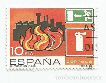LOTE DE 3 SELLOS USADOS DE 1984-SERIE PREVENCION DE ACCIDENTES LABORALES- EDIFIL 2733 (Sellos - España - Juan Carlos I - Desde 1.975 a 1.985 - Usados)