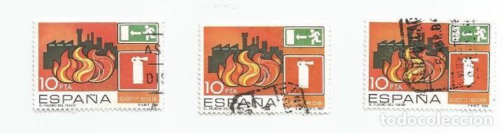 Sellos: LOTE DE 3 SELLOS USADOS DE 1984-SERIE PREVENCION DE ACCIDENTES LABORALES- EDIFIL 2733 - Foto 2 - 205835510