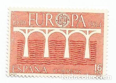 LOTE DE 5 SELLOS USADOS DE 1984- SERIE EUROPA- EDIFIL 2756 (Sellos - España - Juan Carlos I - Desde 1.975 a 1.985 - Usados)