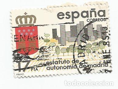 Sellos: LOTE DE 8 SELLOS USADOS DE 1984-SERIE ESTATUTOS DE AUTONOMIA- VER RELACION Y FOTOS - Foto 6 - 205956395
