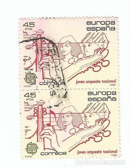 LOTE DE 2 SELLOS USADOS DE 1984- SERIE EUROPA- JOVEN ORQUESTA NACIONAL- EDIFIL 2789 (Sellos - España - Juan Carlos I - Desde 1.975 a 1.985 - Usados)