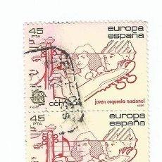 Sellos: LOTE DE 2 SELLOS USADOS DE 1984- SERIE EUROPA- JOVEN ORQUESTA NACIONAL- EDIFIL 2789. Lote 206154310
